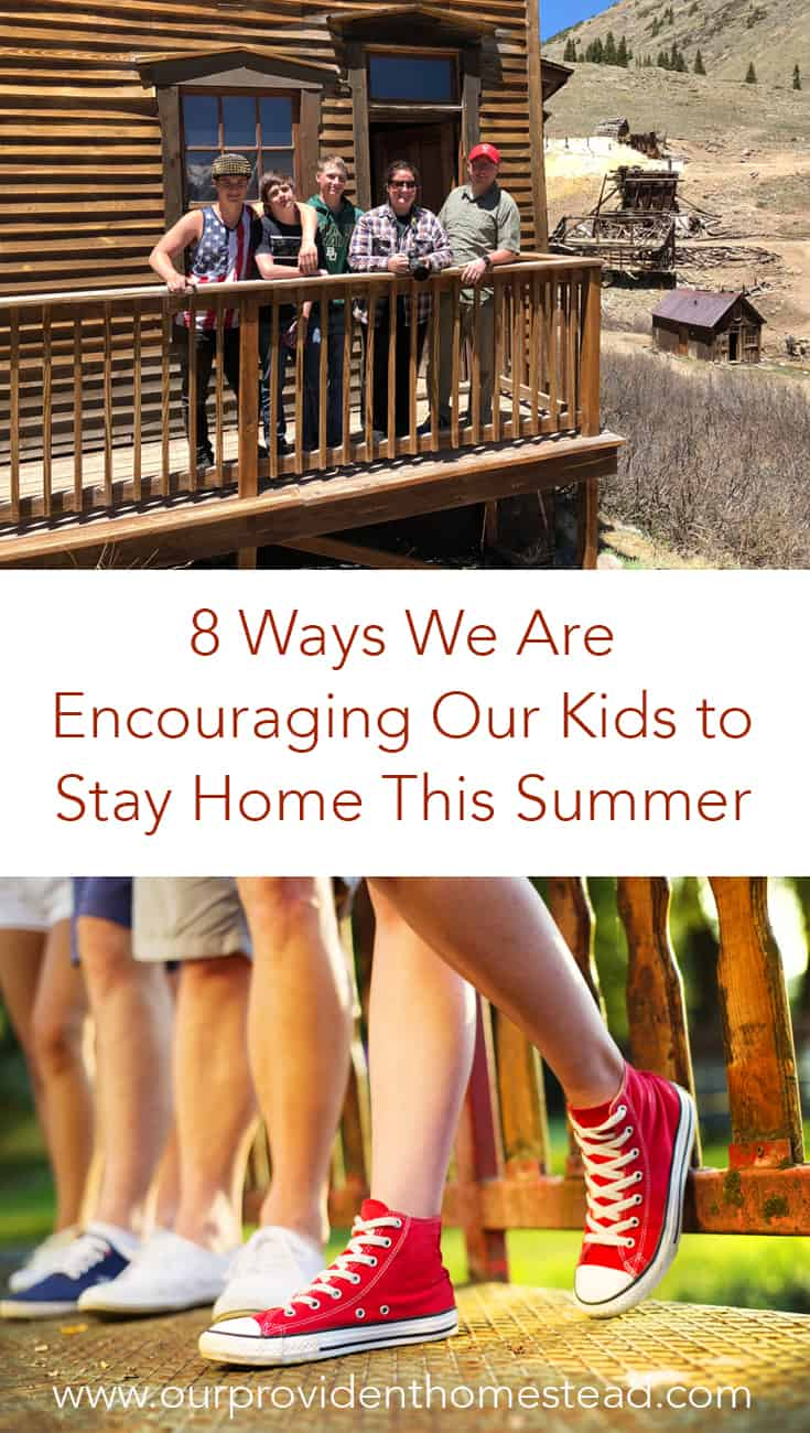 Are you a parent of teens? Click here to 8 ways we are encouraging our kids to stay home this summer so we can get to know them and their friends better.