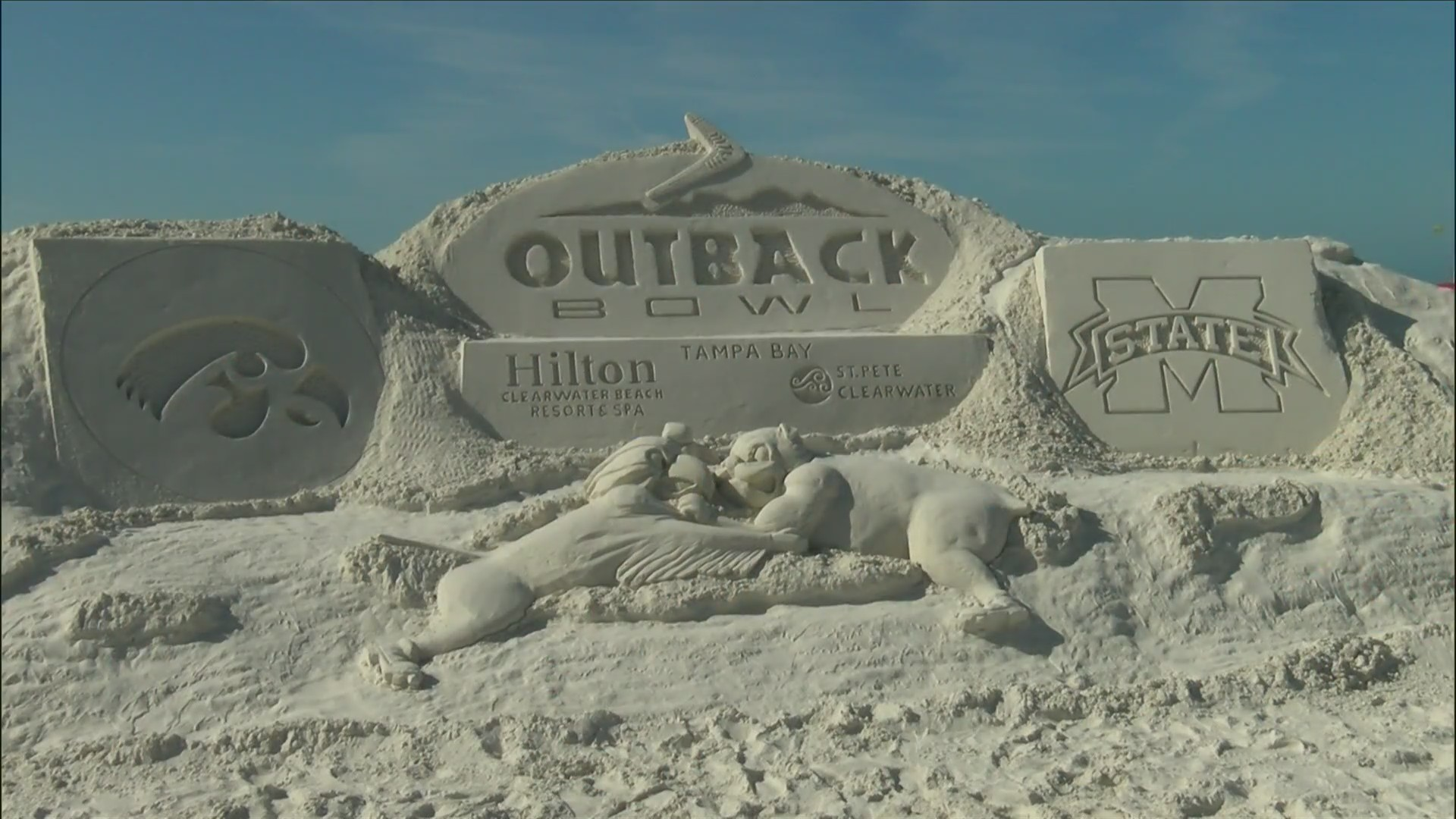 Beach Day at the Outback Bowl