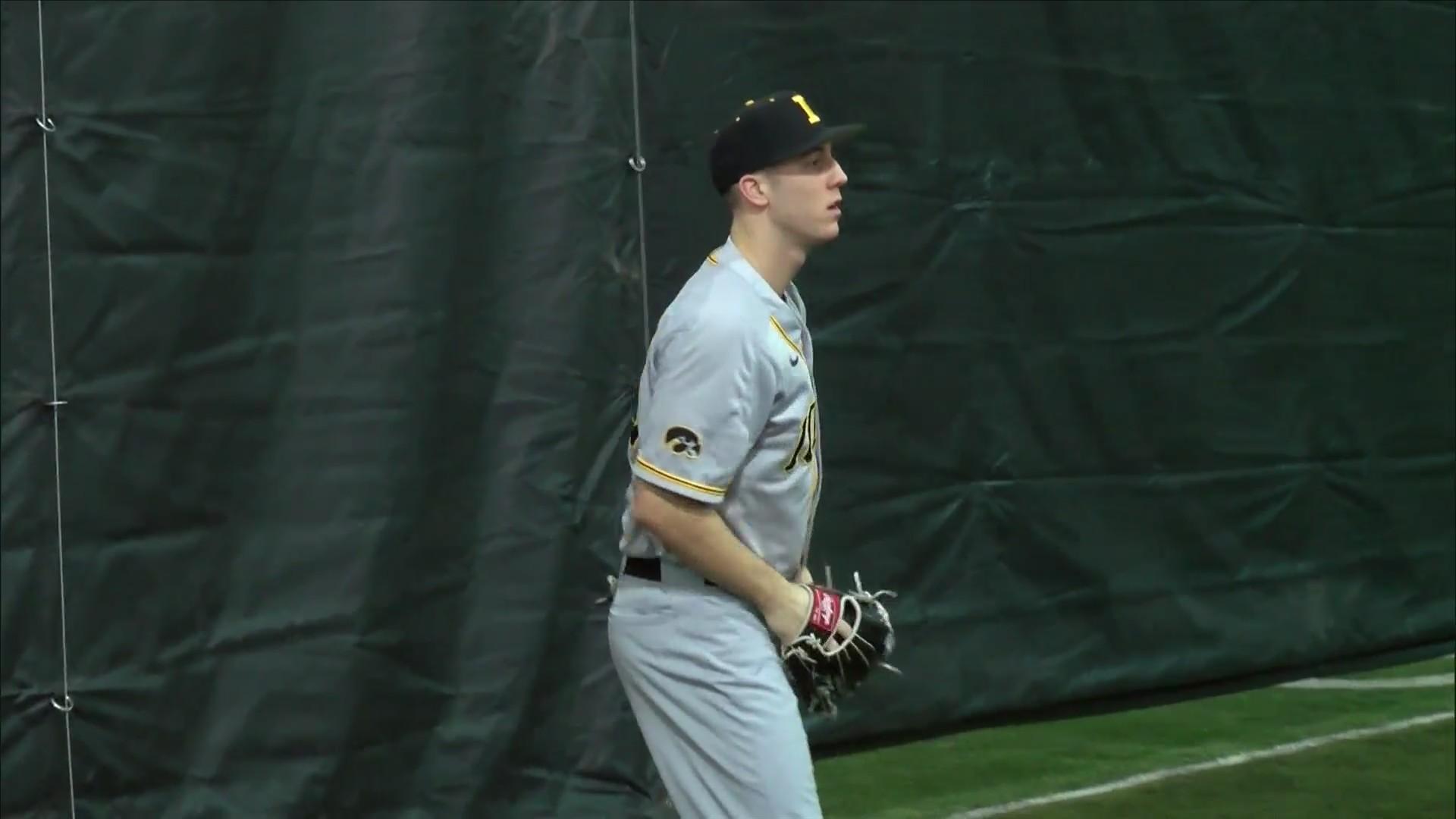Connor McCaffery 2 sport star with Iowa.