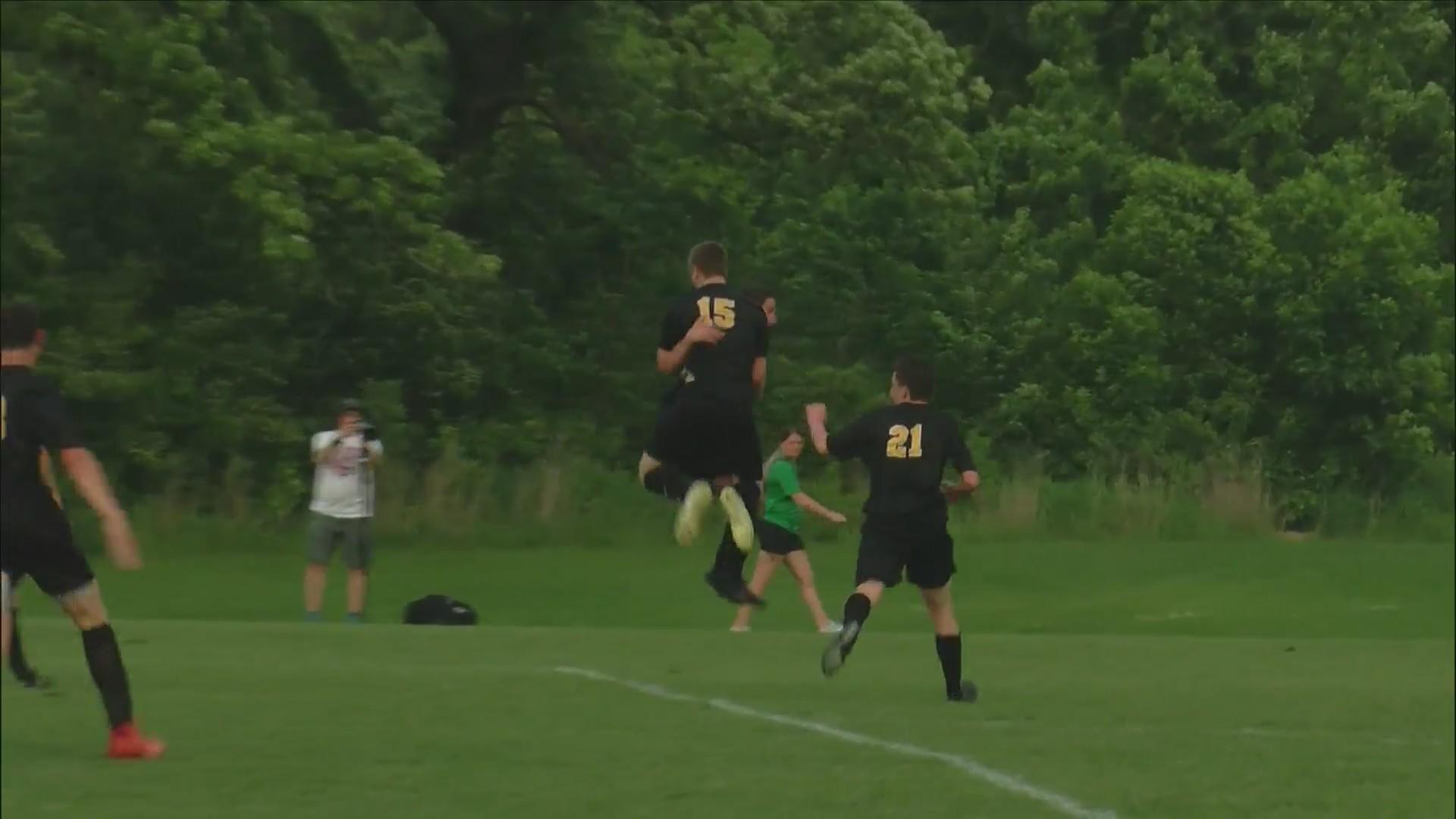 Bettendorf Soccer wins 1-0.