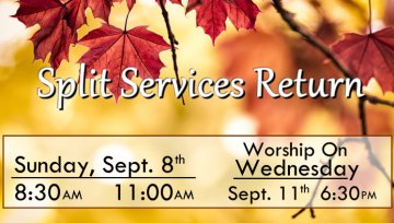 Service Times Change This Sunday