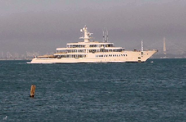 The Super Yacht Off Sausalito Is Musashi Owned By Larry
