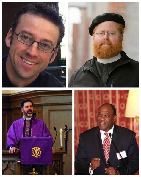 Clockwise from top left: Pr. Eric Andrae, Pr. Roy Coats, Dr. Leo Mackay, Pr. David Petersen.