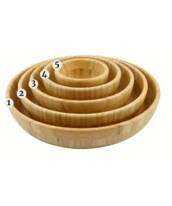 Household Bamboo Bowl Set - 5 Piece Set