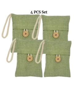 4 PCS Bamboo Charcoal Air Freshner - Main Set