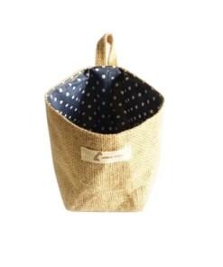 Blue Poka Dot - Eco-Friendly Soft Storage Basket