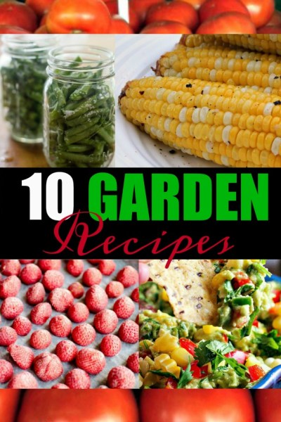 10 Garden Recipes featured from Inspiration Monday Link Party!