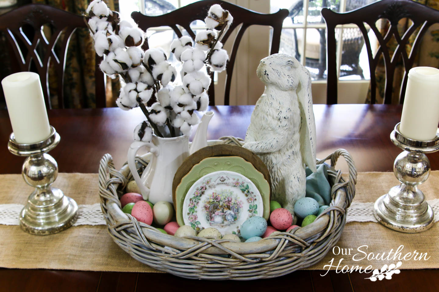 10-Minute Spring Centerpiece by Our Southern Home