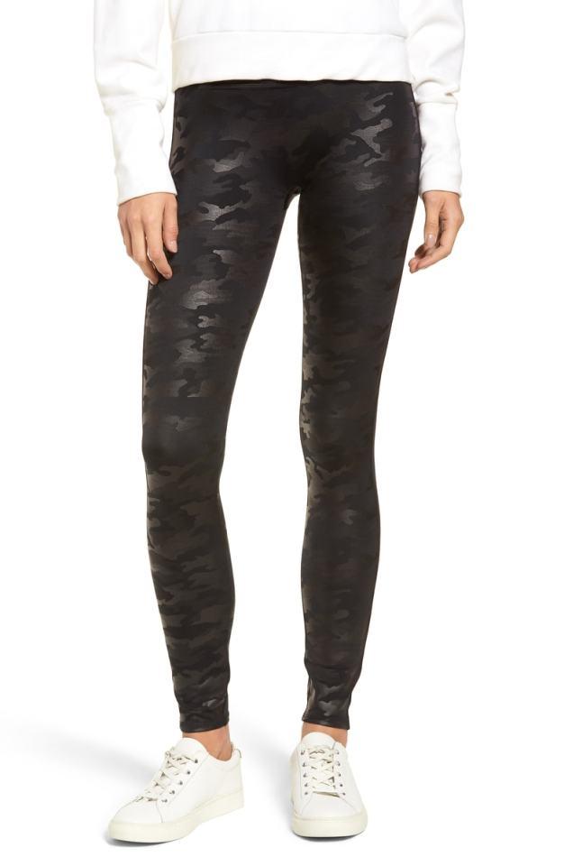 Amazing Spanx faux leggings!!! Must have for fall. #leggings #camoleggings