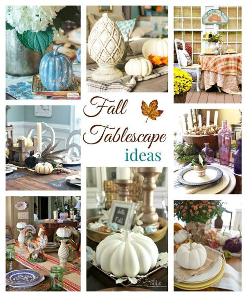 8 Lovely Fall Tablescapes