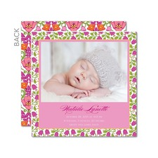 Flowery Introduction Birth Announcements