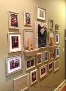 Gallery Wall {Santa Photos}