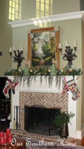 Angels Rejoice Mantle {Family Room}