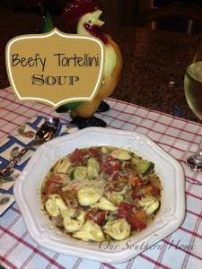 Beefy Tortellini Soup