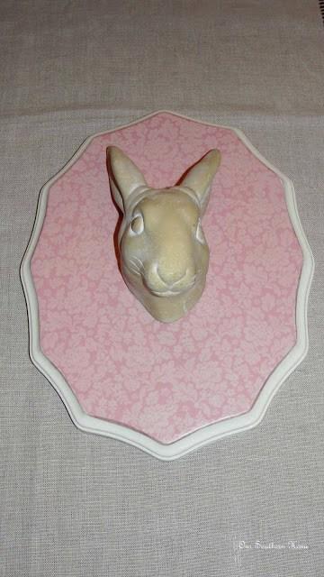 scrapbook paper mod podge rabbit for teen girl's room