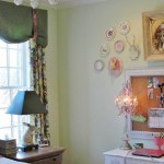 teen girl's vintage study area