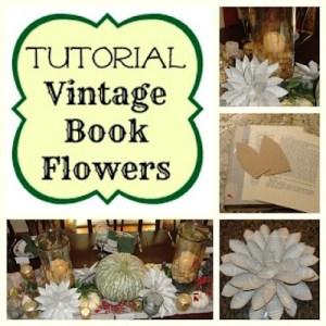 Vintage Book Flowers {tutorial}