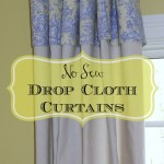 No Sew Drop Cloth Curtains Our Southern Home