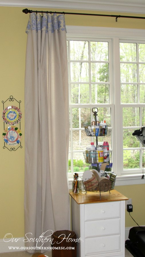 no sew drop cloth curtains