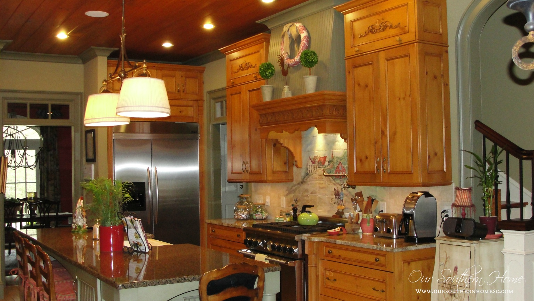 french country kitchen tour our southern home - Large Country Kitchen