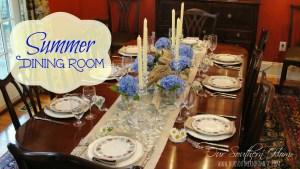 Summer Dining Room {Hydrangea Beauties}