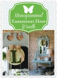 Monogrammed Embroidery Hoop Wreath