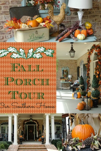 Southern Fall Porch with Our Southern Home