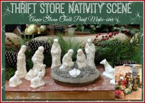 Thrift Store Nativity Scene Make-Over