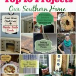 Top 10 projects of 2013 from Our Southern Home #ascp #knitting #furniture