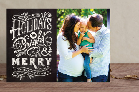 Bright and Chalky Holiday Photo Cards