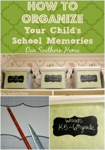 Organizing Your Child's School and Art Work