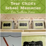 Storage file crate project to store child's school years memories from Our Southern Home