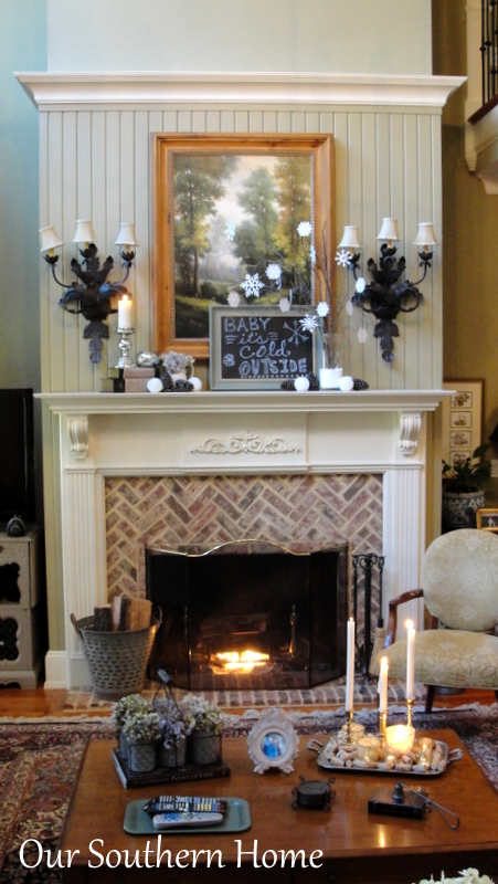 Creating a Cozy Winter Mantel with Our Southern Home