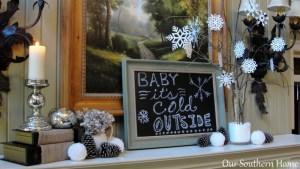 Creating A Cozy Winter Mantel