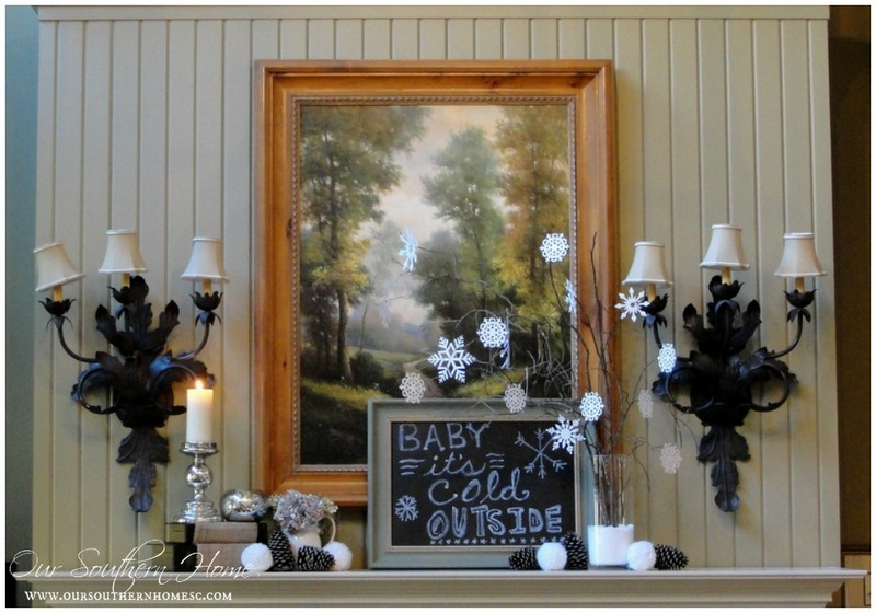 Creating a cozy winter family room with Our Southern Home