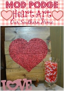 Mod Podge Heart Art