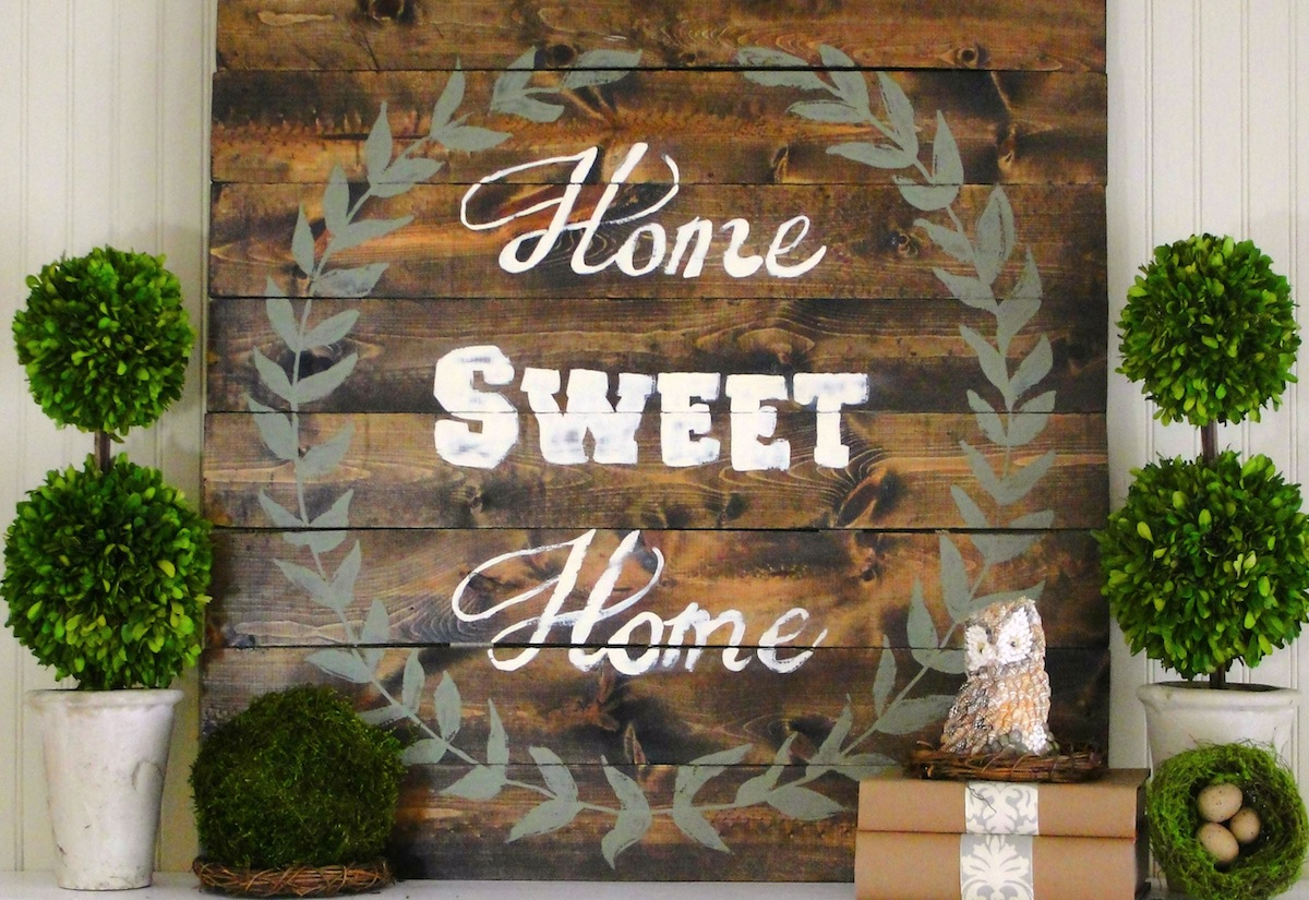 Home Sweet Home Sign {Tutorial}