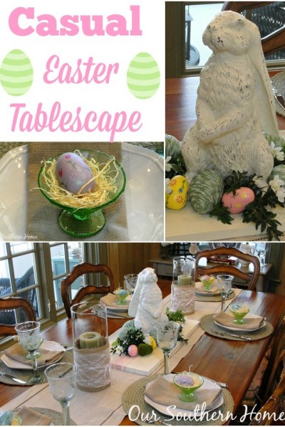 Casual Easter Tablescape