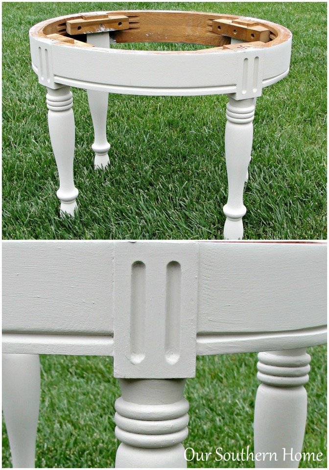 Stool Makeover with Americana Decor Chalky Finish  Paint from Our Southern Home