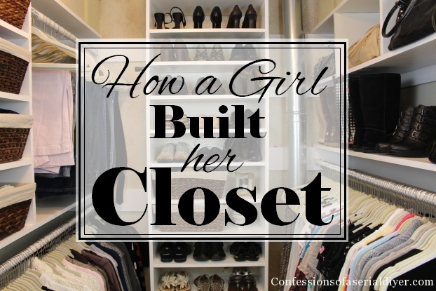 Small closet makeover on a budget!