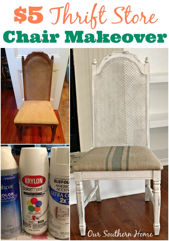 $5 Thrift Store Chair Makeover - Our Southern Home