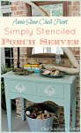 Beach Inspired ASCP Stenciled Porch Server by Our Southern Home #ascp #anniesloanchalkpaint