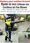 Ryobi 40V Lithium-ion Cordless Jet Fan Blower via Our Southern Home