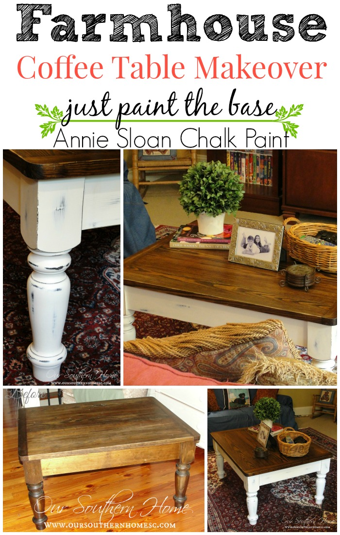 Farmhouse Coffee Table Makeover Using Annie Sloan Chalk Paint. Just Paint  The Base By Our