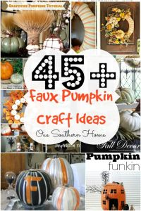Over 45 Faux Pumpkin Craft Ideas