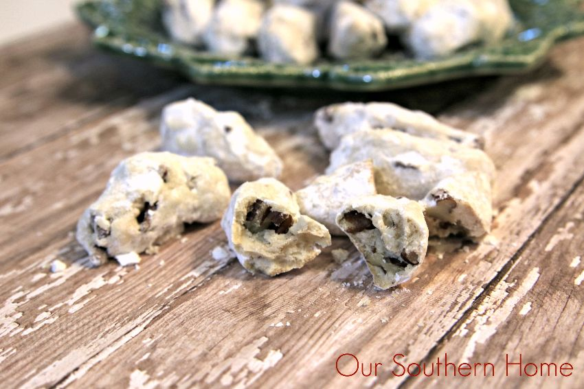Pecan Crescent Cookies perfect for gift giving via Our Southern Home
