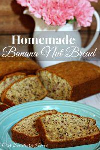Homemade Banana Nut Bread