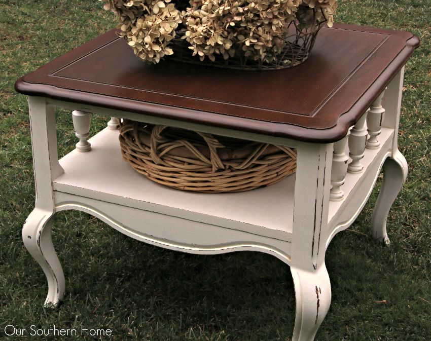 Bon French Country Thrift Store End Table Makeover By Our Southern Home Using  Americana Decor Chalky Finish