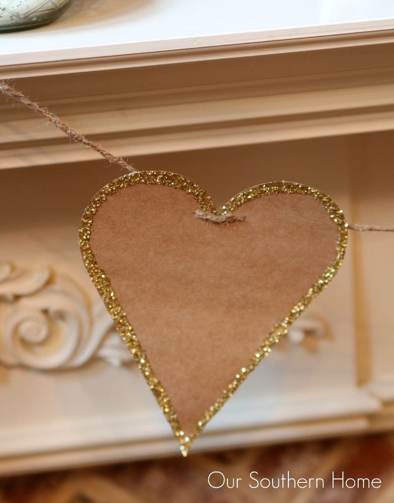 Easy cardstock heart bunting by Our Southern Home