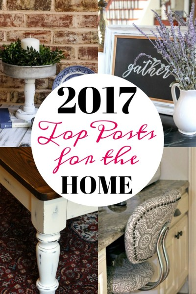 Top posts for the home from 2017! Everything from thrift store makeovers to recipes and a knitting project!